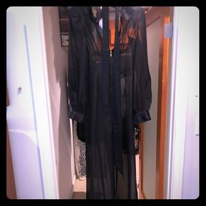 Agent provocateur see through long sleeve jumpsuit